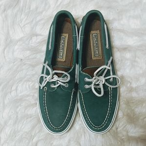 Sperry Top Siders Green Boat Sz 8.5